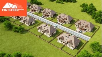 Vedere superioară complex de case